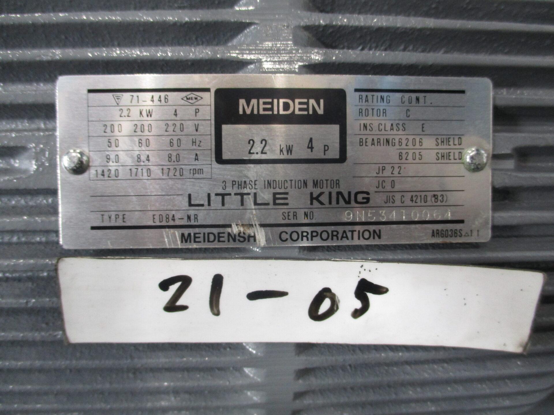 2.2kw4P200V明電舎