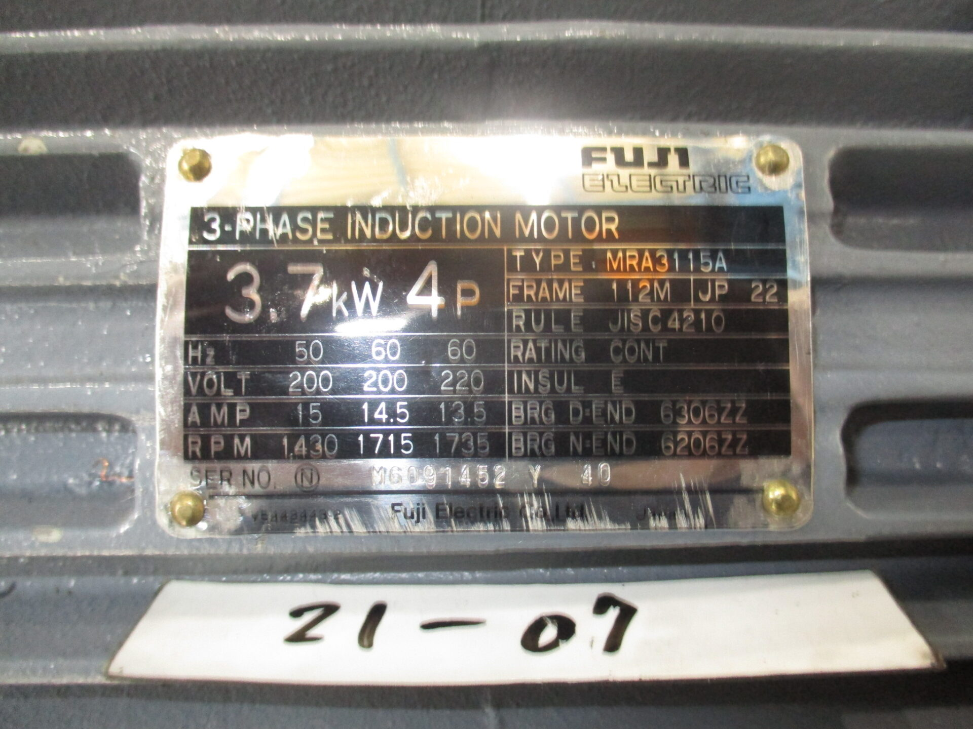3.7kw4P200V富士